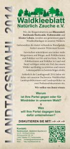 Flyer Landtagswahl 2014
