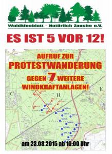 Flyer der Protestwanderung gegen Windräder im Wald