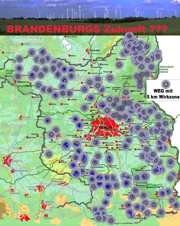 Karte Der Windeignungsgebiete In Brandenburg Waldkleeblatt
