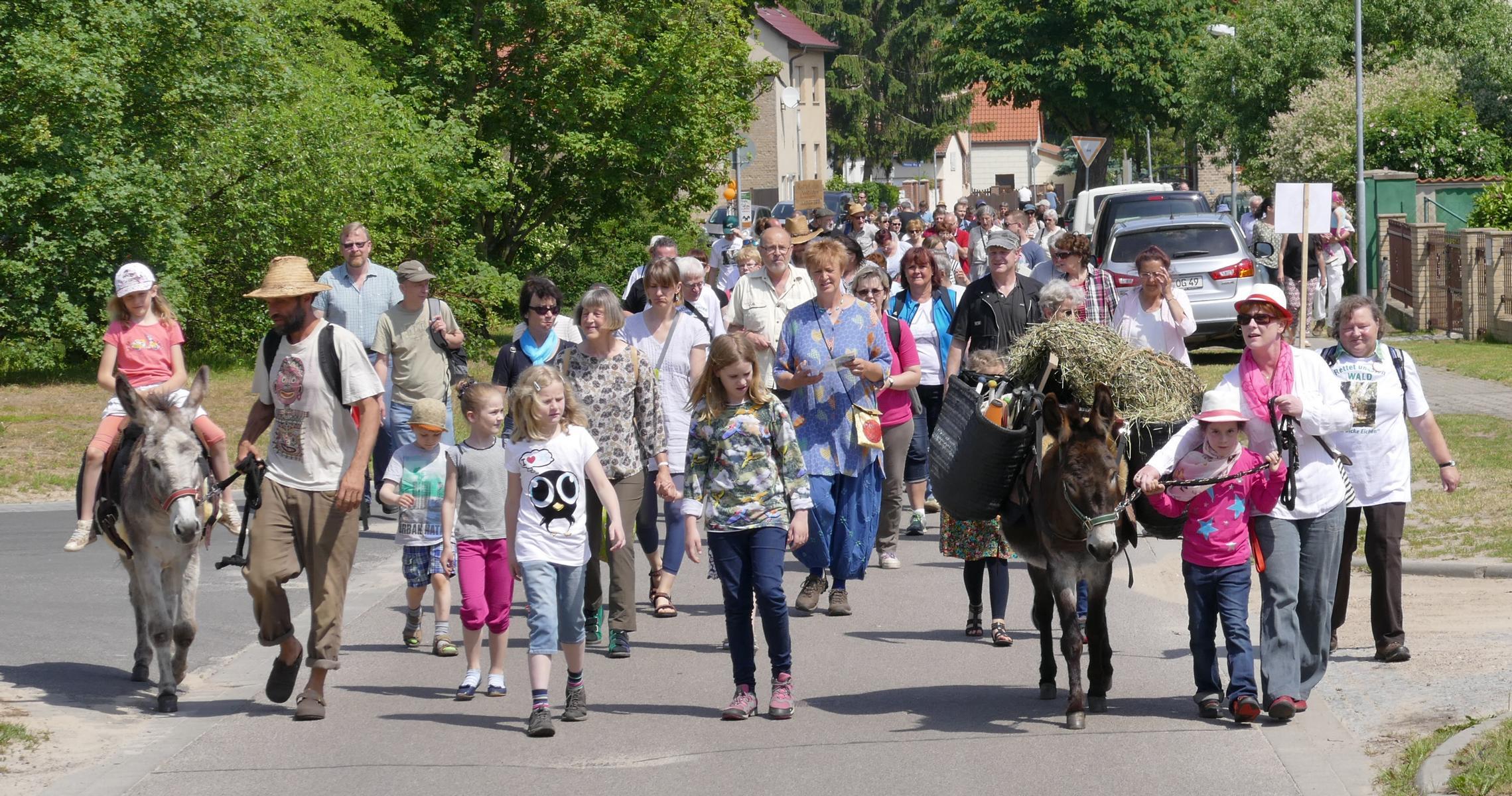 """Sonntag, 03. Juni 2018 / 11.00. Uhr / 7 . Aktionswandertag """"Rettet unseren Wald"""" mit Waldfest in Bliesendorf (Bliesendorfer Dorfstr. 10)"""