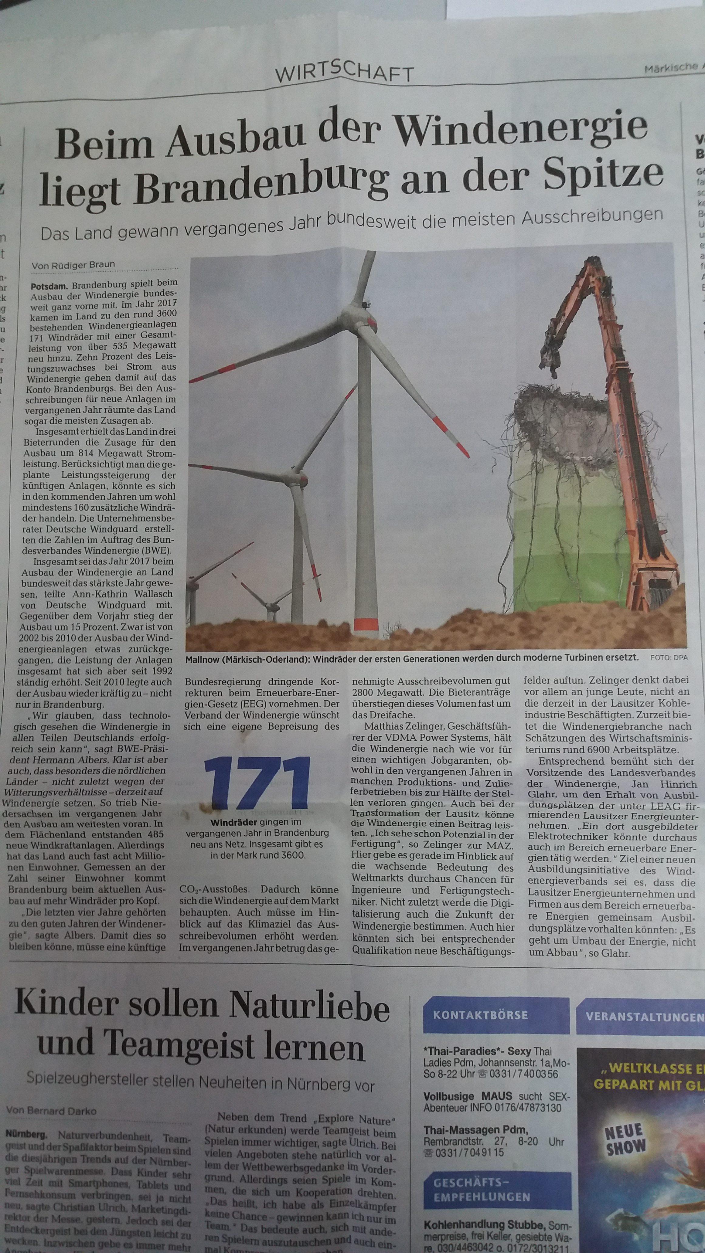 MAZ 26.01.2018 Windenergie